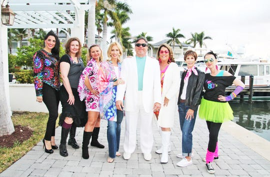 Mental Health Association Party & Dance Through the Decades Committee, from left, Morgan Smith, Jeanne Shepherd, Angela Guzenski, Stacey Morabito, Dr. Nick Coppola, Debbie Noonan, Anne Lanier and Amy Wagner.