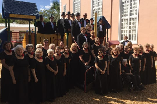 Sixty-five voices in the Treasure Coast Chorale will perform on March 3 at the First Baptist Church.