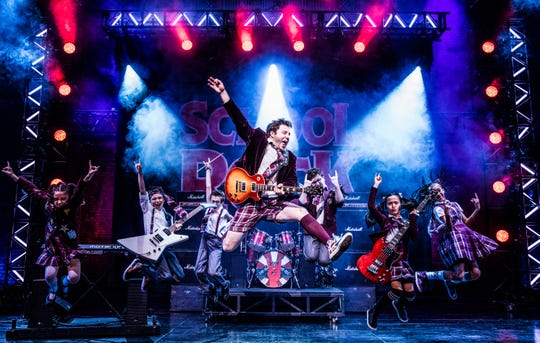 """Don't miss musical theater's first-ever kids rock band playing their instruments live on stage in """"School of Rock."""""""