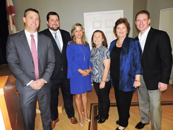 Galina Koval, left, Craig Dreyer, Kelly Buist, Nancy Goethel, Carrie Lavargna and Ryan Furtwangler at the Martin County Estate Planning Council Symposium Jan. 23 at The Kane Center in Stuart.