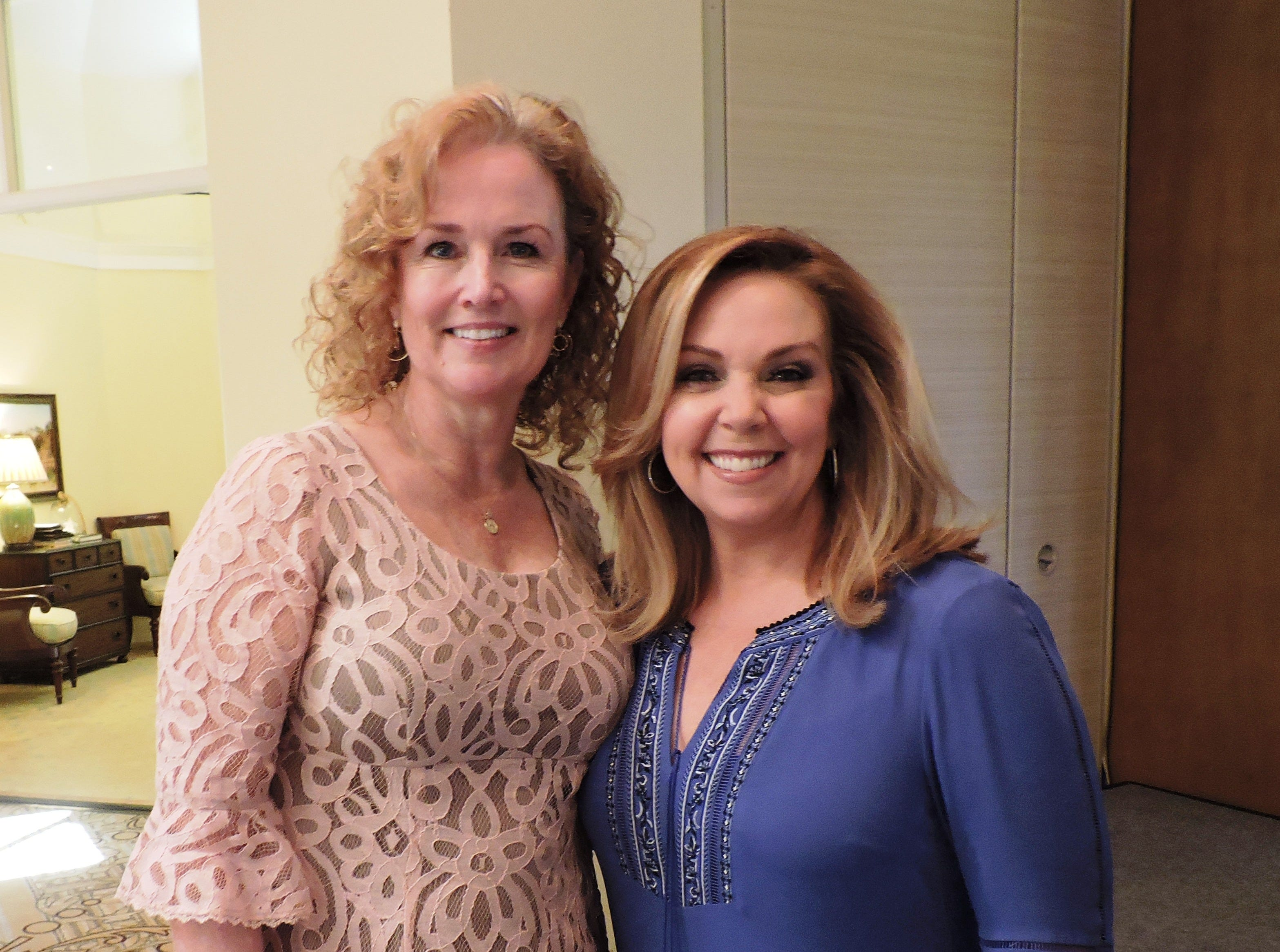 Mary Beth Zipsir, left, and Luncheon host Kelley Dunn at Mary's Shelter's Fashion Show & Luncheon Jan.22 at Willoughby Golf Club in Stuart.