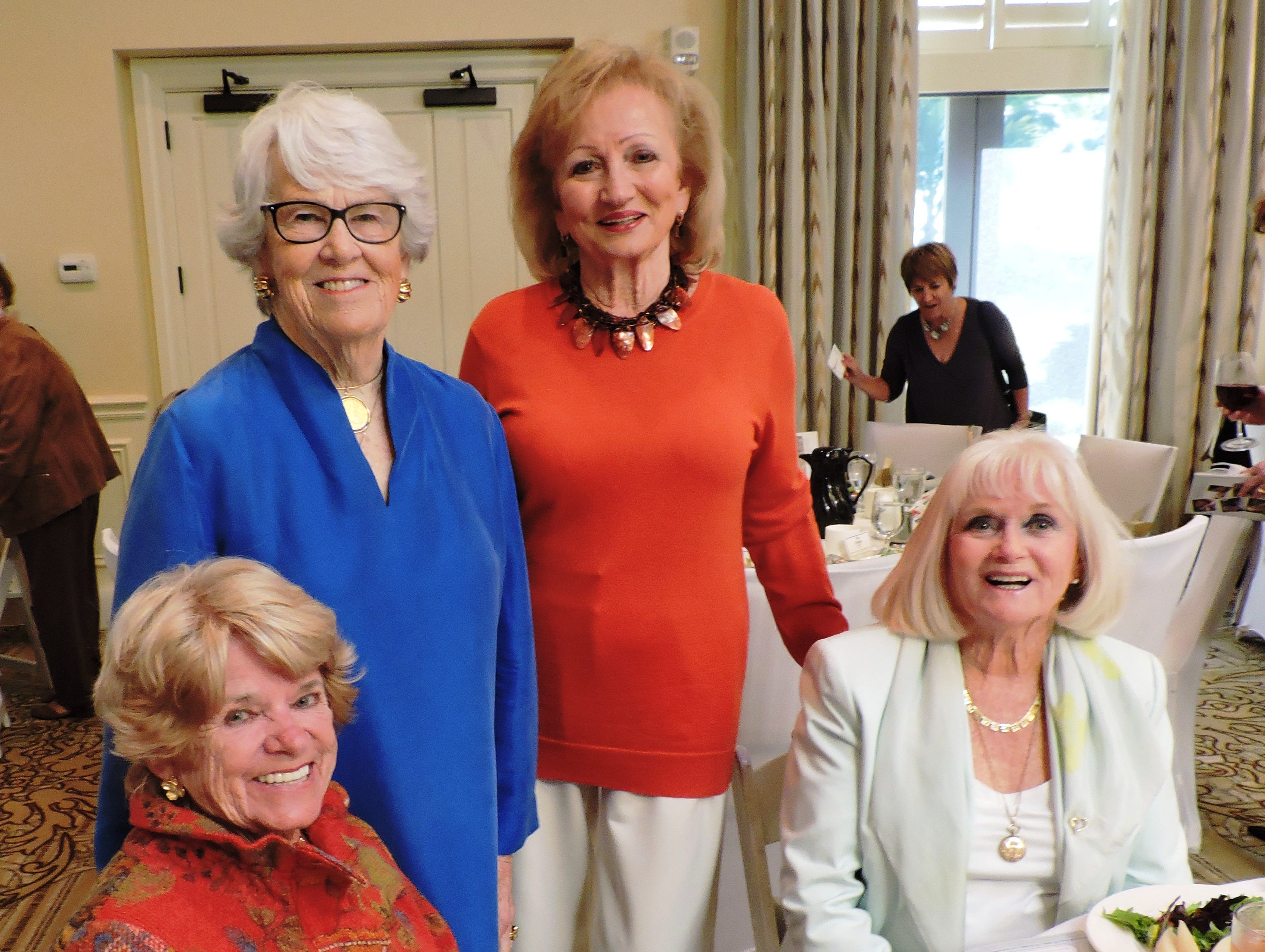 Charlene Roberts, left, Mimi Boulden, Toni MacDonald and Sally Lazarus at Mary's Shelter's Fashion Show & Luncheon Jan.22 at Willoughby Golf Club in Stuart.
