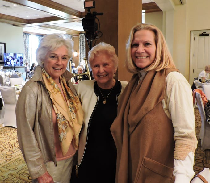 Gerry Murray, left, Jan Lindsay, founder of Mary's Shelter, and Linda Allard at Mary's Shelter's Fashion Show & Luncheon Jan.22 at Willoughby Golf Club in Stuart.