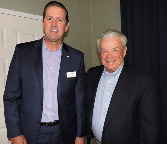 Presenters Scott Nall, left, and Michael Fowler at the Martin County Estate Planning Council Symposium Jan. 23 at The Kane Center in Stuart.
