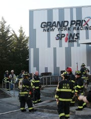 Mount Kisco firefighters at the scene of a fire at Grand Prix and Spins Bowl on Bedford Road in Mount Kisco Feb. 4  2019. The fire was contained to a storage room in the rear of the building. There were no injuries.