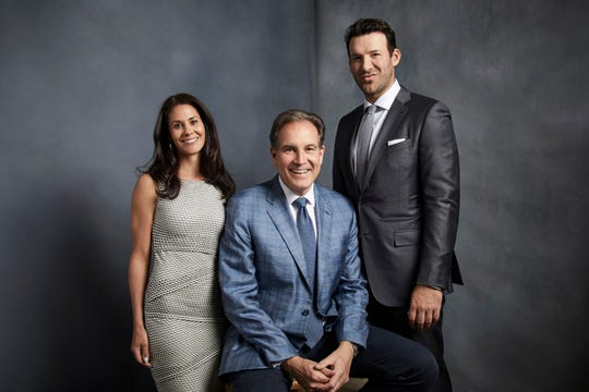 NFL lead reporter Tracy Wolfson, Jim Nantz lead play-by-play announcer and lead analyst Tony Romo. Wolfson is getting props for scoring a post Super Bowl 53 interview with Patriot's QB Tom Brady. Woflson is a Congers native.