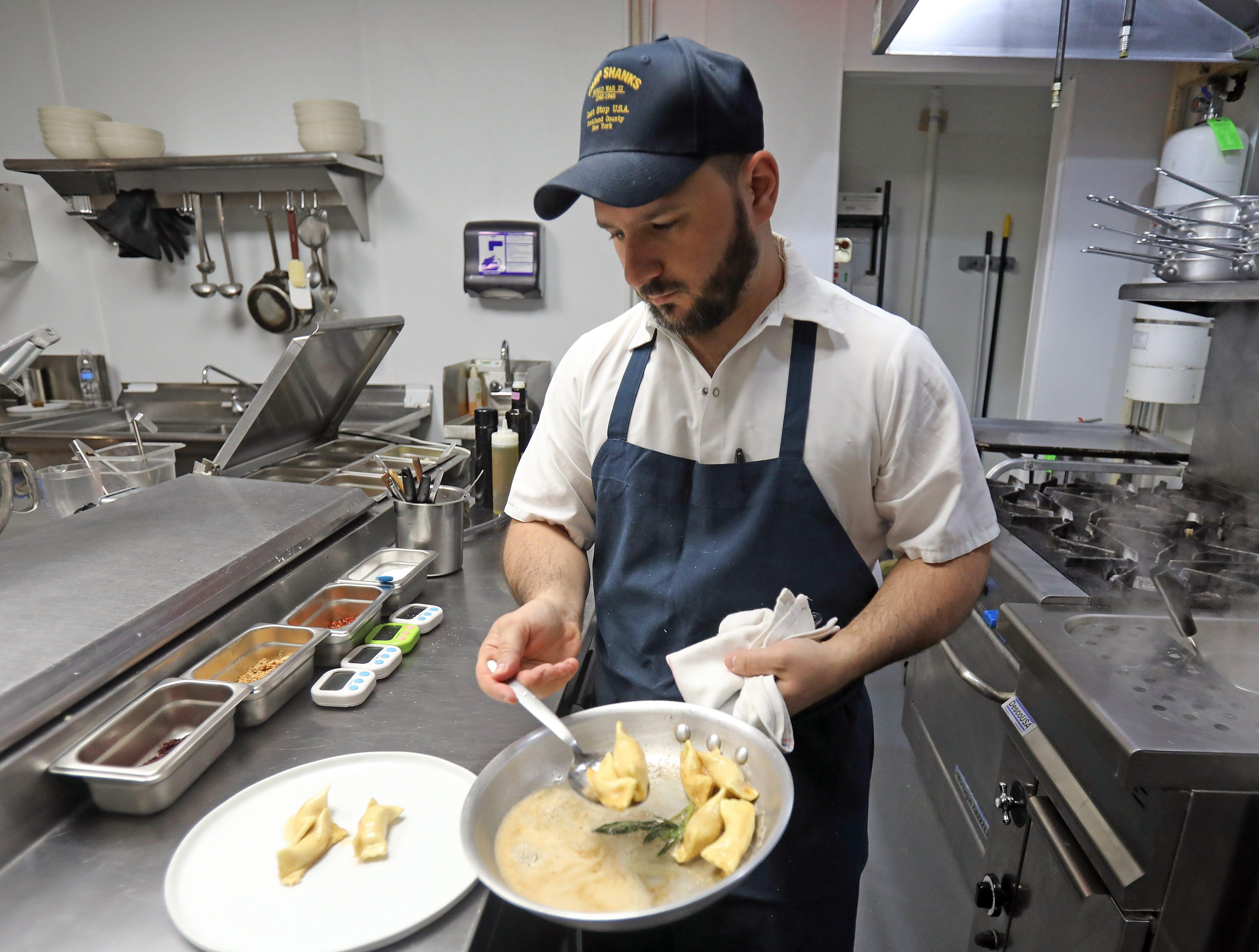 Tony Scotto, owner of DPNB Pasta & Provisions prepares pumpkin scarpinocc at the restaurant in Nyack on Jan. 31, 2019.