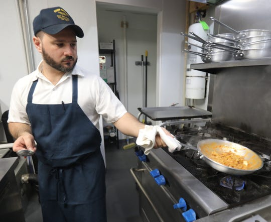 Tony Scotto, owner of DPNB Pasta & Provisions prepares tripoline at his new Nyack spot on Jan. 31, 2019.