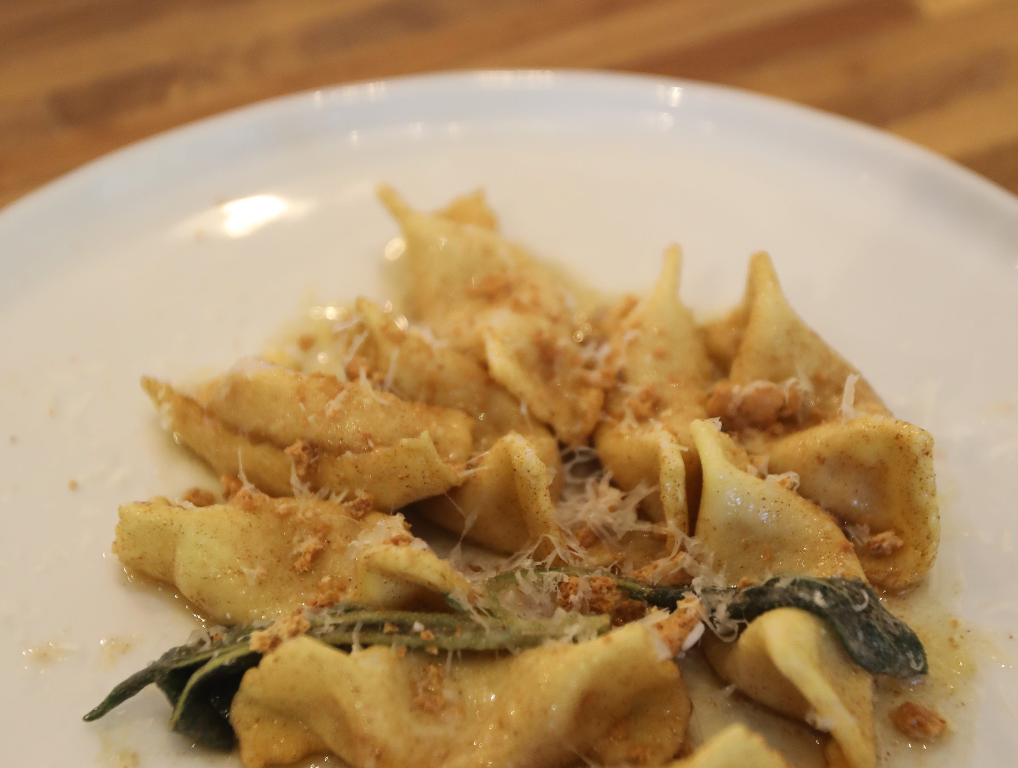 Pumpkin scarpinocc is a dish made at DPNB Pasta & Provisions in Nyack on Jan. 31, 2019.
