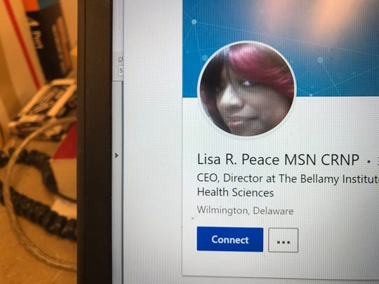 The LinkedIn profile of Lisa Roseanne Peace, a former nurse for Connections Community Support Services.