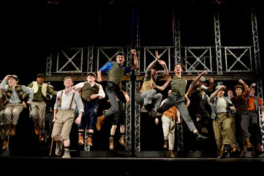 """Disney's """"Newsies the Broadway Musical"""" has shows at 7:30 p.m. on Fridays, and 2 p.m. and 7:30 p.m. Saturdays at the Wichita Theatre and will run at least through March 2."""