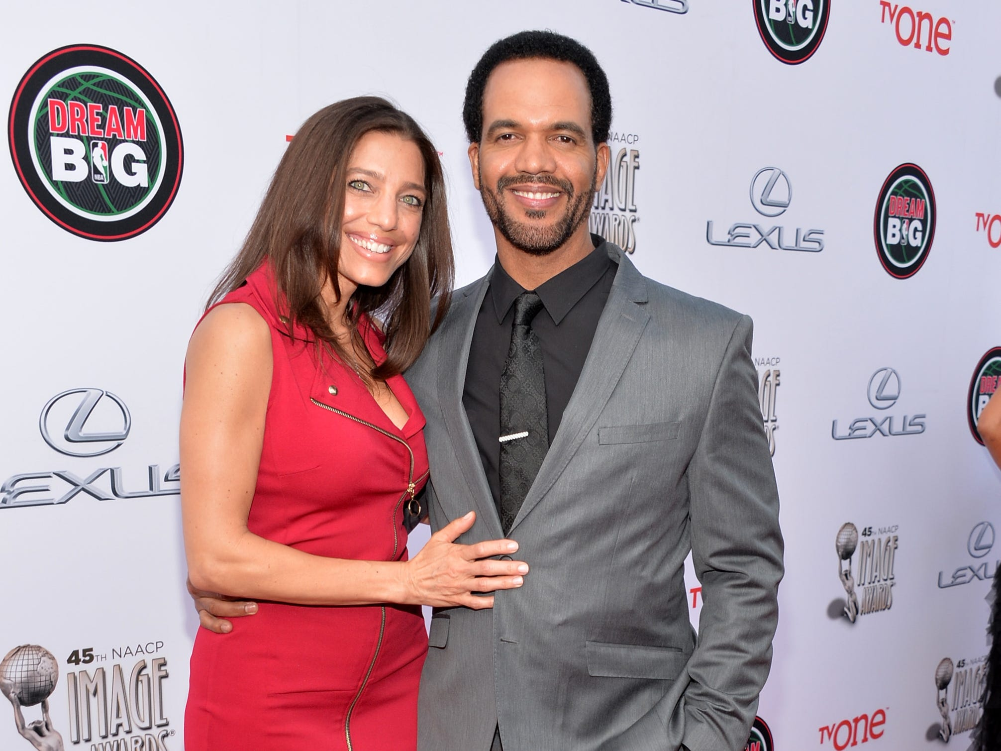 Kristoff St. John and Dana Derrick attend the 45th NAACP Image Awards presented by TV One at Pasadena Civic Auditorium on Feb. 22, 2014 in Pasadena, Calif.
