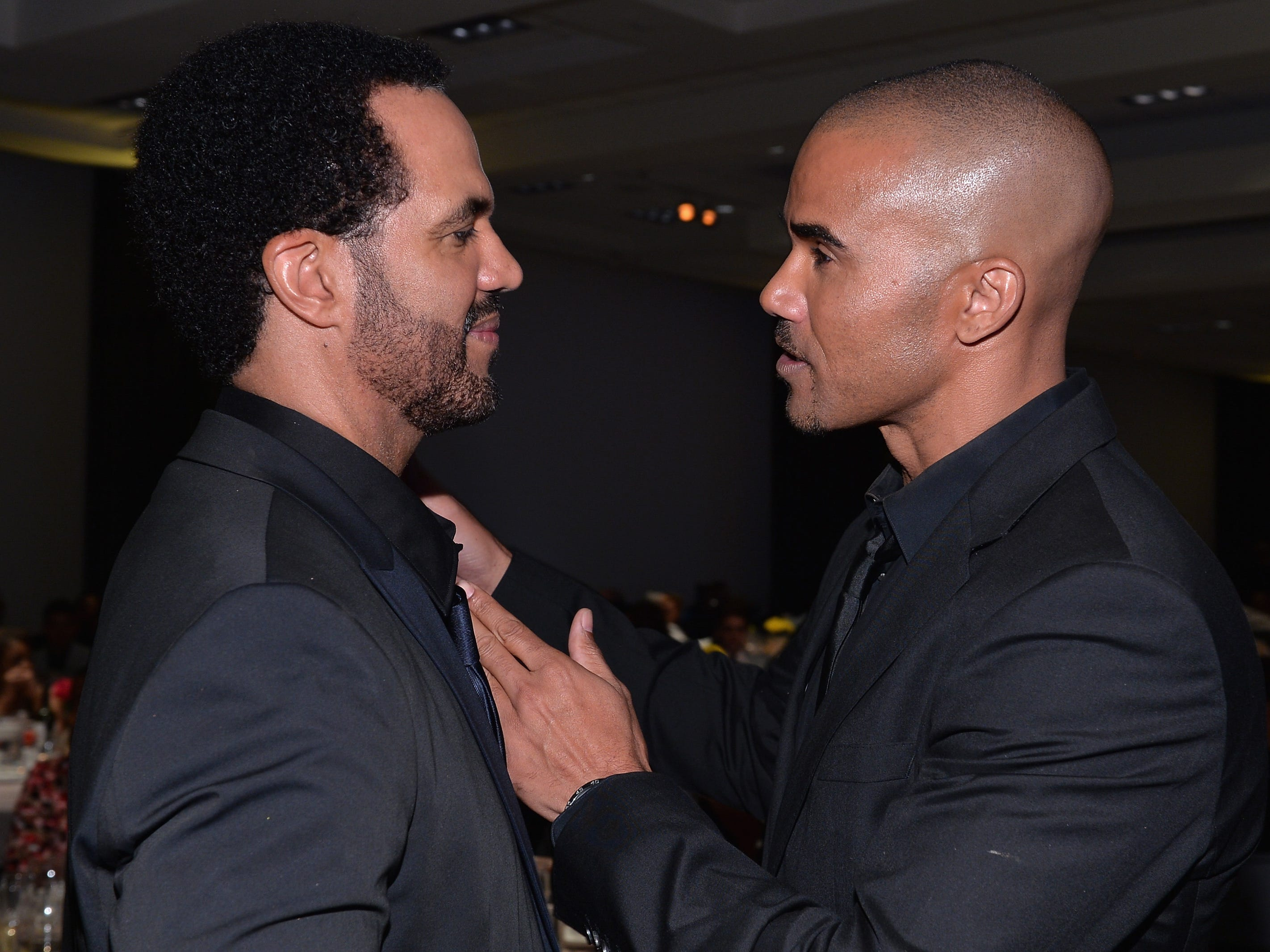 Kristoff St. John and Shemar Moore attend the 45th NAACP Awards Non-Televised Awards Ceremony, Feb. 21, Pasadena, Calif.