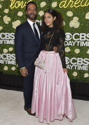 Actor Kristoff St. John, left, and daughter Paris St. John attend the CBS Daytime Emmy After Party at Pasadena Convention Center on April 29, 2018 in Pasadena, California.