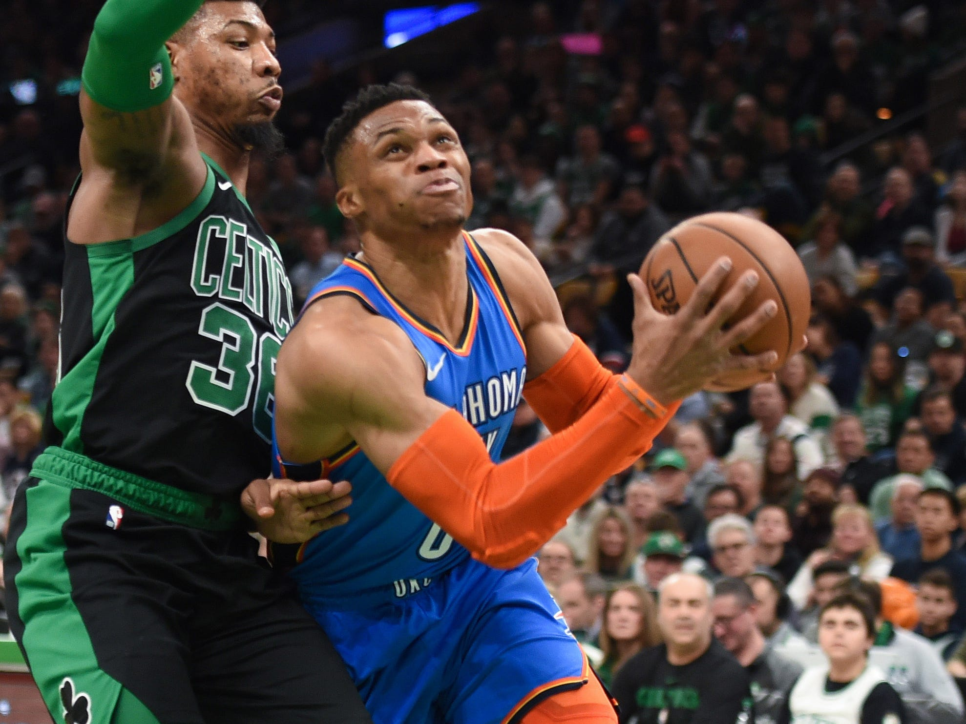 72. Russell Westbrook, Thunder (Feb. 3): 22 points, 16 assists, 12 rebounds in 134-129 loss to Celtics (19th of season).