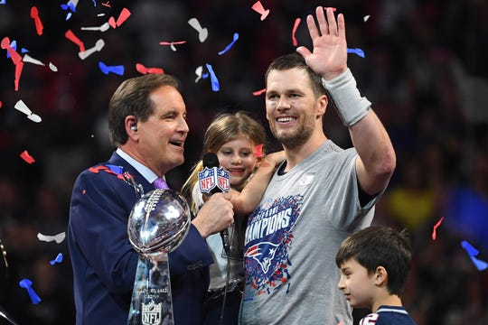 New England Patriots quarterback Tom Brady won his sixth Super Bowl title, but not as many viewers tuned in.
