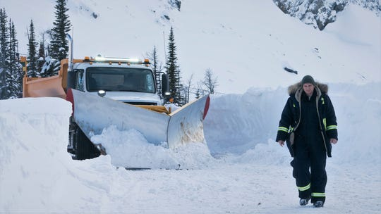 "Nels Coxman (Liam Neeson) plows a bloody path of vengeance in ""Cold Pursuit."""