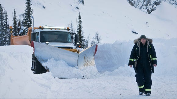 """Nels Coxman (Liam Neeson) plows a bloody path of vengeance in """"Cold Pursuit."""""""