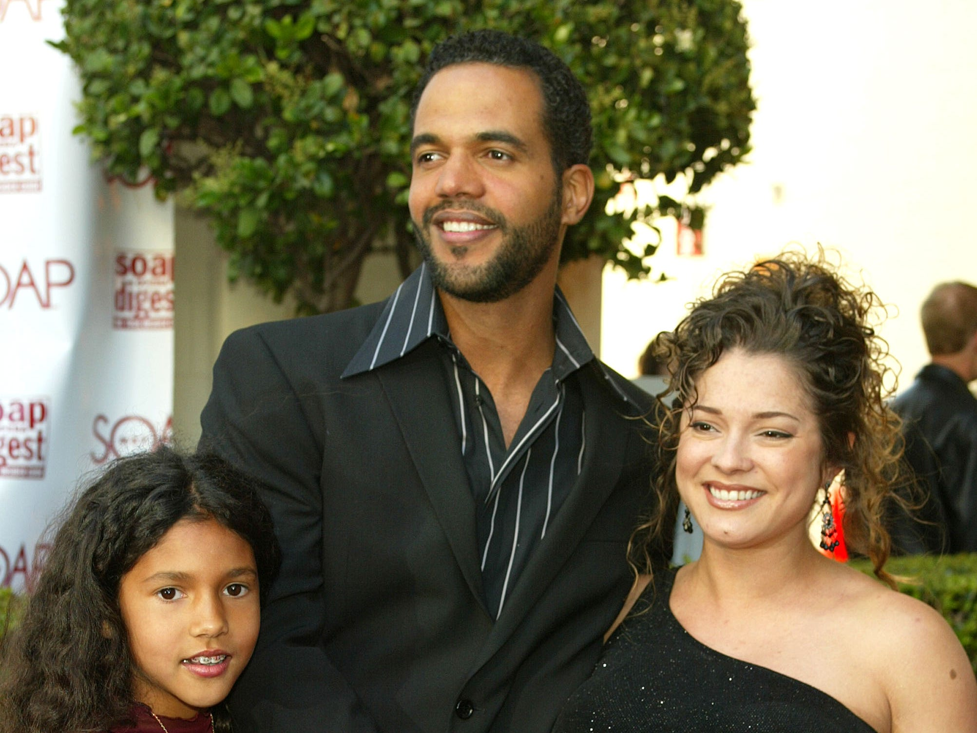 Kristoff St. John with wife Allana and daughter Paris arrive at The Soap Opera Digest Awards, April 5, 2003 in Los Angeles.