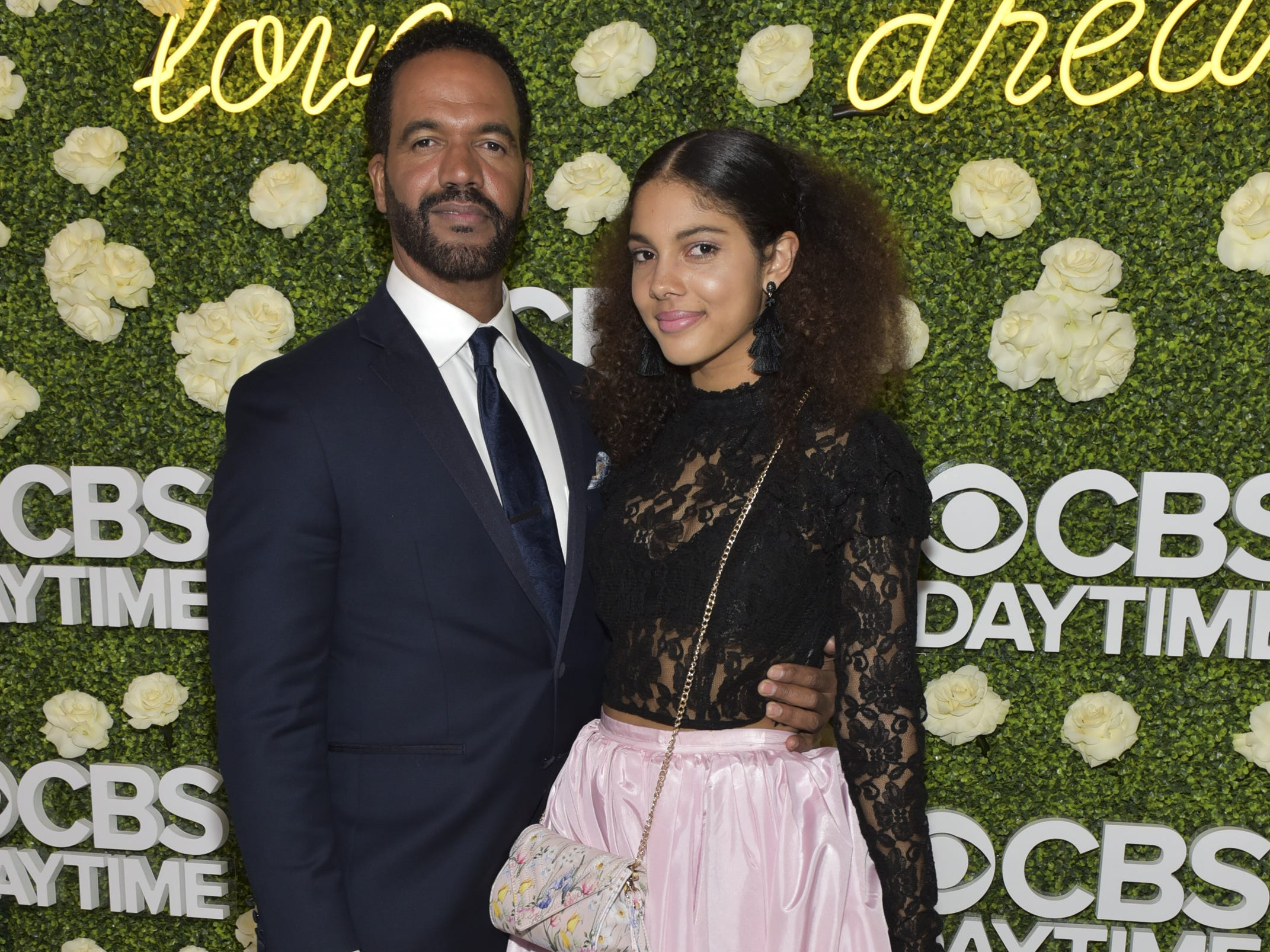 Actor Kristoff St. John and his daughter Paris St. John attend the CBS Daytime Emmy After Party,  April 29, 2018 in Pasadena, Calif.
