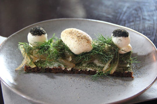 At Tarnet, chef Rene Hansen showcases a modern spin on the country's most traditional sandwich: the open-faced smorrebrod.