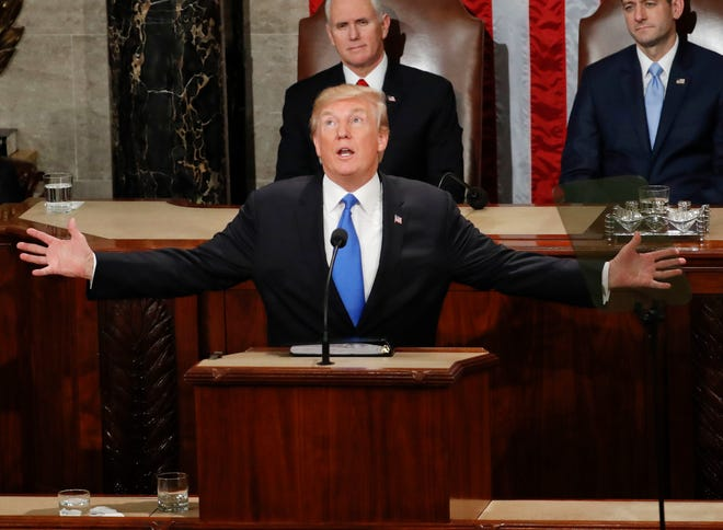 President Donald Trump addresses a joint session of Congress on Capitol Hill on Jan. 30, 2018. Desert Sun readers suggest the president shows his true colors via his Twitter feed.