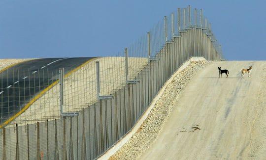 Separation fence near Jayous, West Bank.