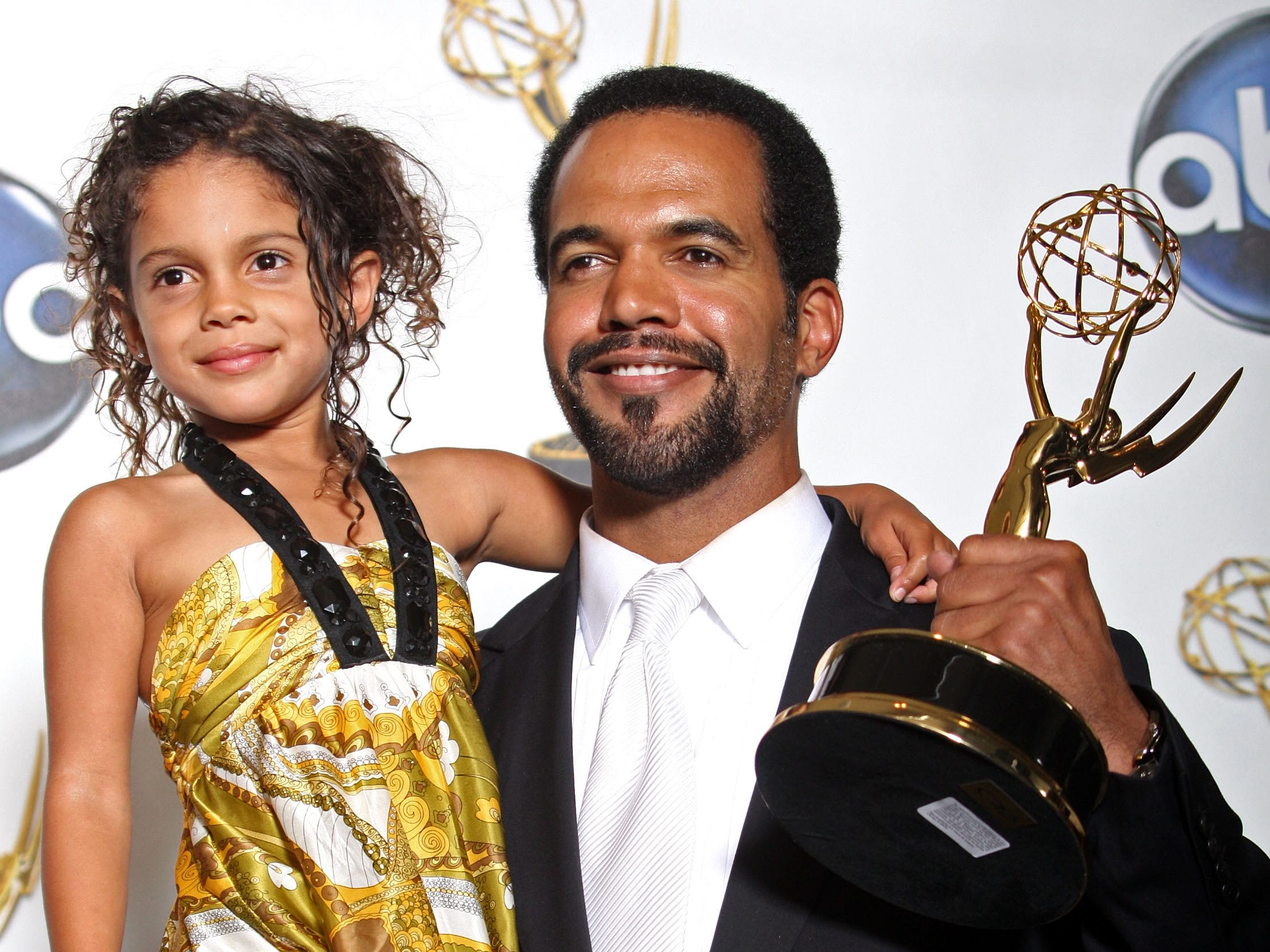 "Kristoff St. John poses with the Outstanding Supporting Actor In A Drama Series award for ""The Young and the Restless"" in the press room at the 35th Annual Daytime Emmy Awards, June 20, 2008 in Hollywood."