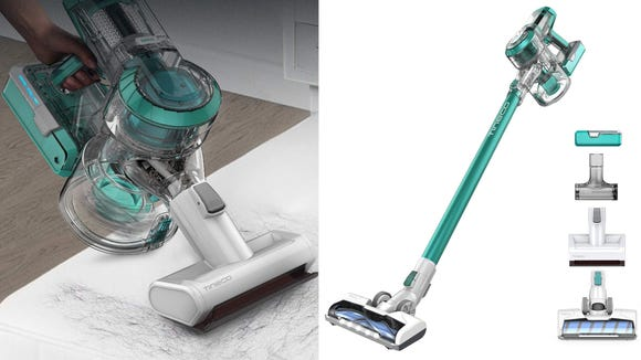 This colorful stick vacuum is perfect at this sale price.