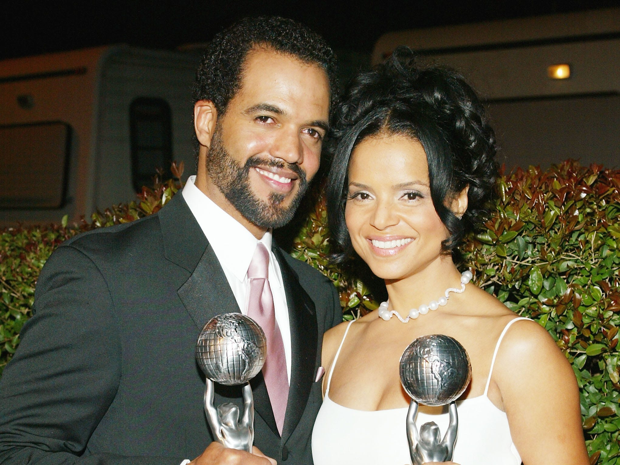 Outstanding Actress in a Daytime Drama Series Winner Victoria Rowell and Outstanding Actor in a Daytime Drama Series Winner  Kristoff St. John at the 35th Annual NAACP Image Awards, March 6, 2004 in Hollywood.