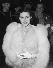 Princess Margaret (1930 - 2002) at premiere of 'Captain Horatio Hornblower' at the Warner Theatre Leicester Square, London.