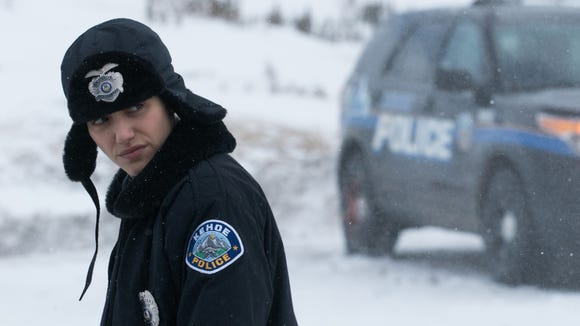 "Emmy Rossum plays a local cop who investigates strange disappearances in her Colorado resort town in ""Cold Pursuit."""