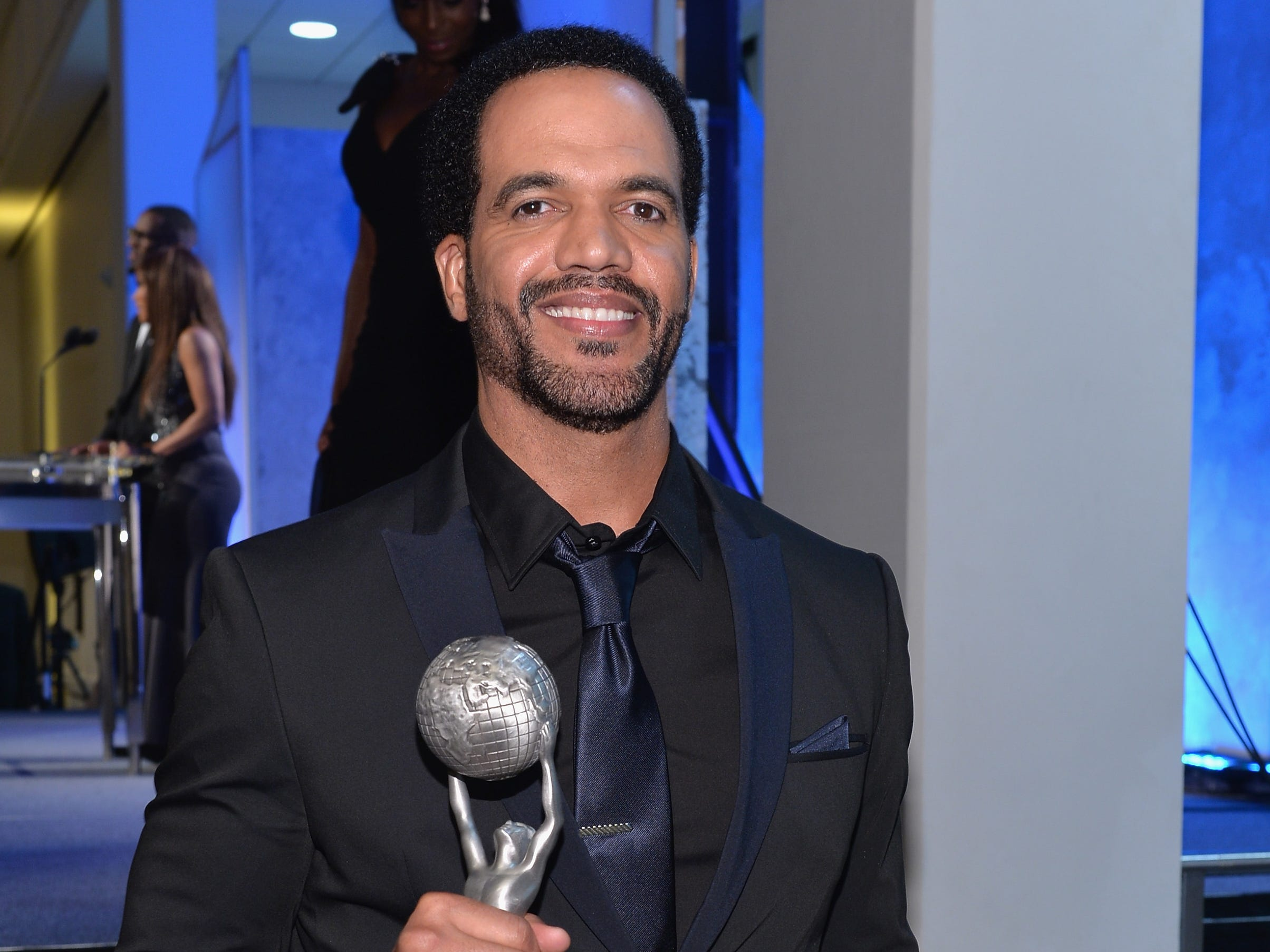 PASADENA, CA - FEBRUARY 21:  Actor Kristoff St. John attends the 45th NAACP Awards Non-Televised Awards Ceremony at the Pasadena Civic Auditorium on February 21, 2014 in Pasadena, California.  (Photo by Alberto E. Rodriguez/Getty Images for NAACP) ORG XMIT: 474224457 [Via MerlinFTP Drop]