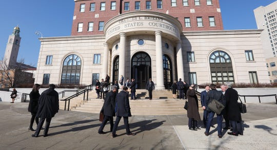 Lawyers, Witnesses, and Others Leaving the US District District Court of New York after the Sears Bankruptcy Hearing was completed on February 4, 2019.