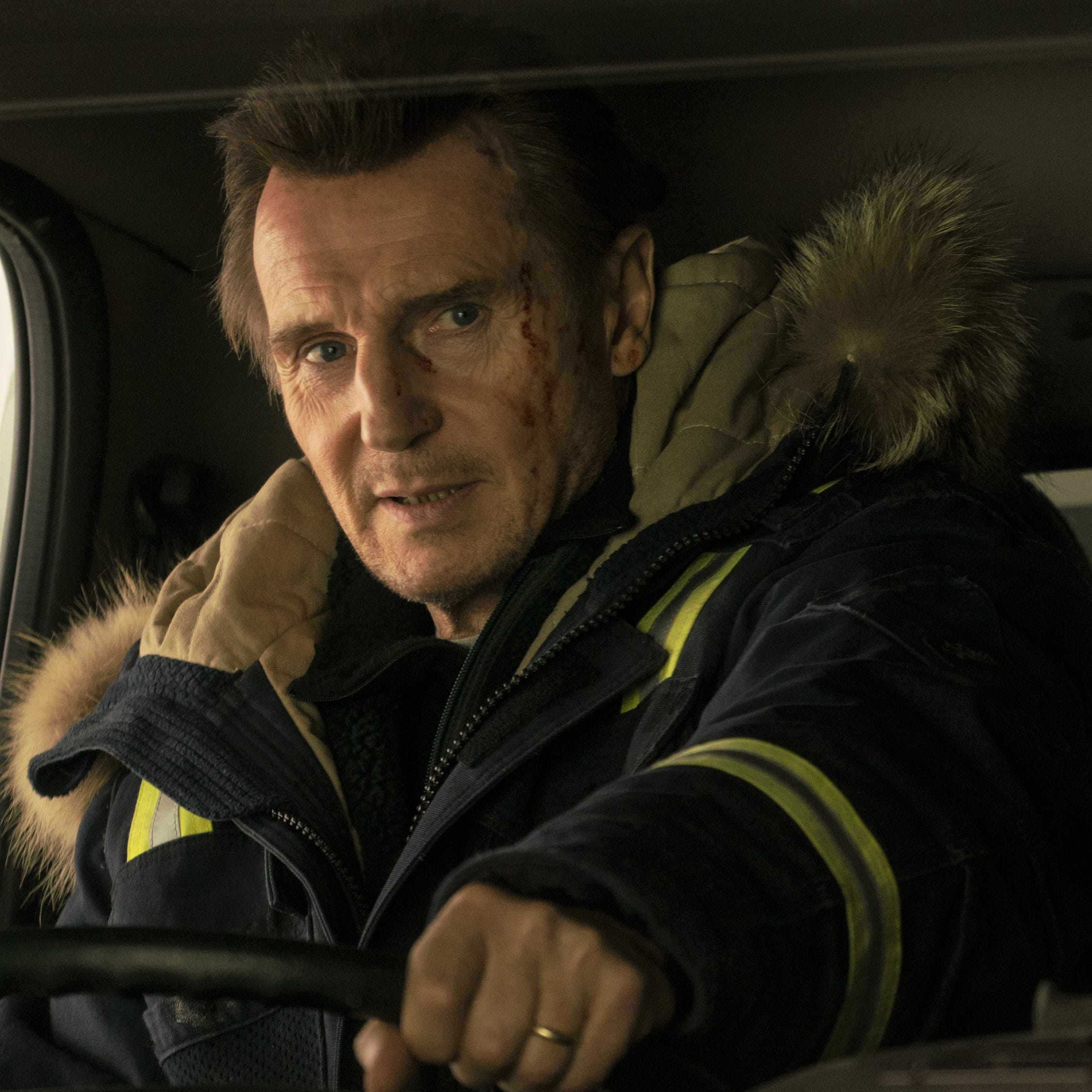"Liam Neeson stars as a man who turns vigilante when his son is murdered in ""Cold Pursuit."""