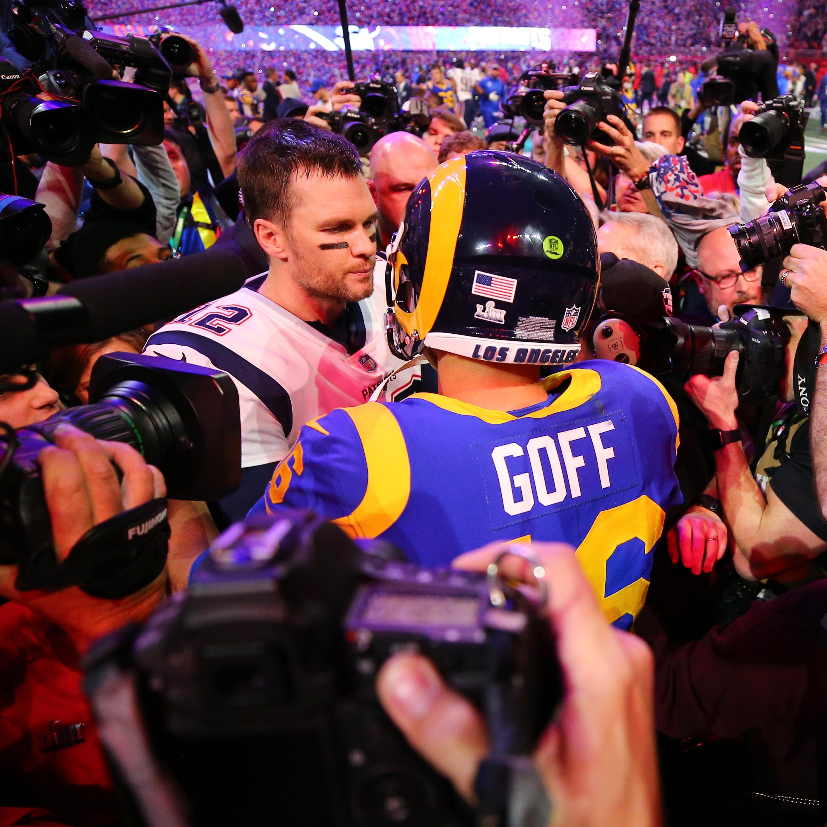 Tom Brady was the center of attention after the Patriots won the Super Bowl.
