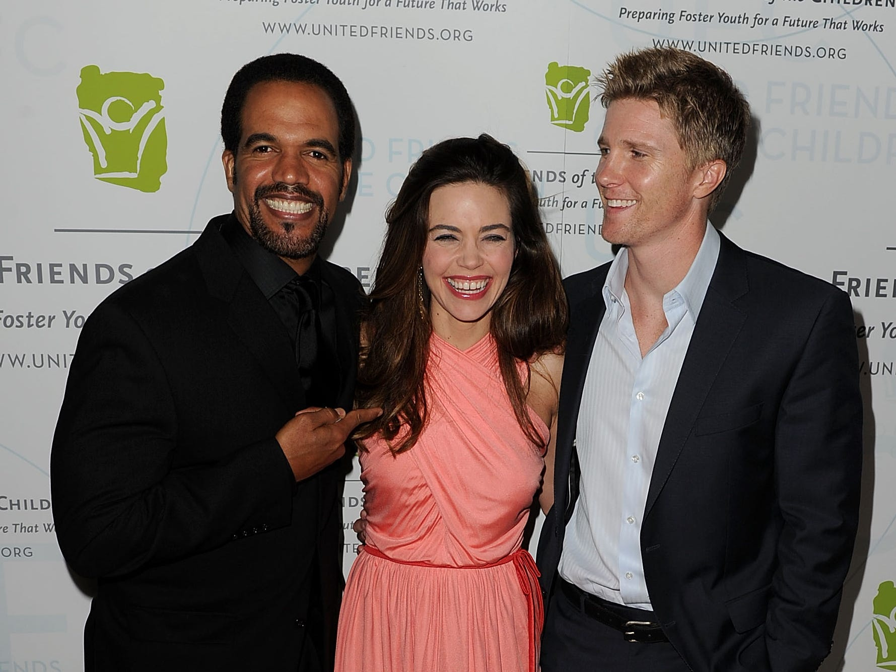 Kristoff St John, Amelia Heinle, and Thad Luckinbill arrive at the United Friends of the Children's Brass Ring Awards Dinner 2010, May 4, 2010 in Los Angeles.