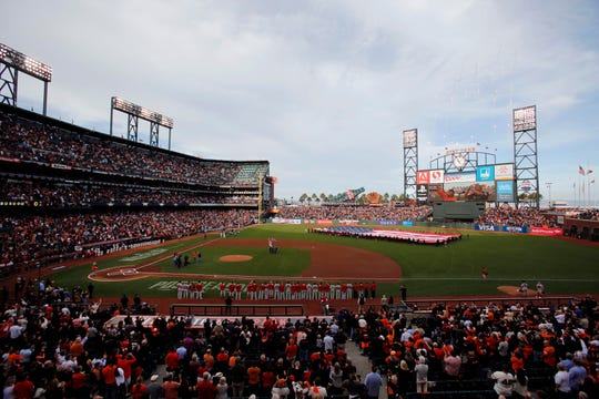 The Oakland Raiders are in talks with the Giants about playing their home games next season at Oracle Park in San Francisco.