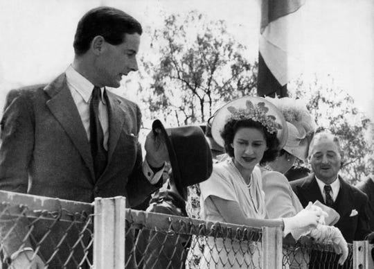 Princess Margaret with Capt. Peter Townsend in 1955.