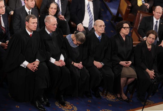 "Six Supreme Court justices attended President Barack Obama's State of the Union address in 2015, but only five of them stayed awake. Associate Justice Ruth Bader Ginsburg later acknowledged she was ""not 100% sober."""
