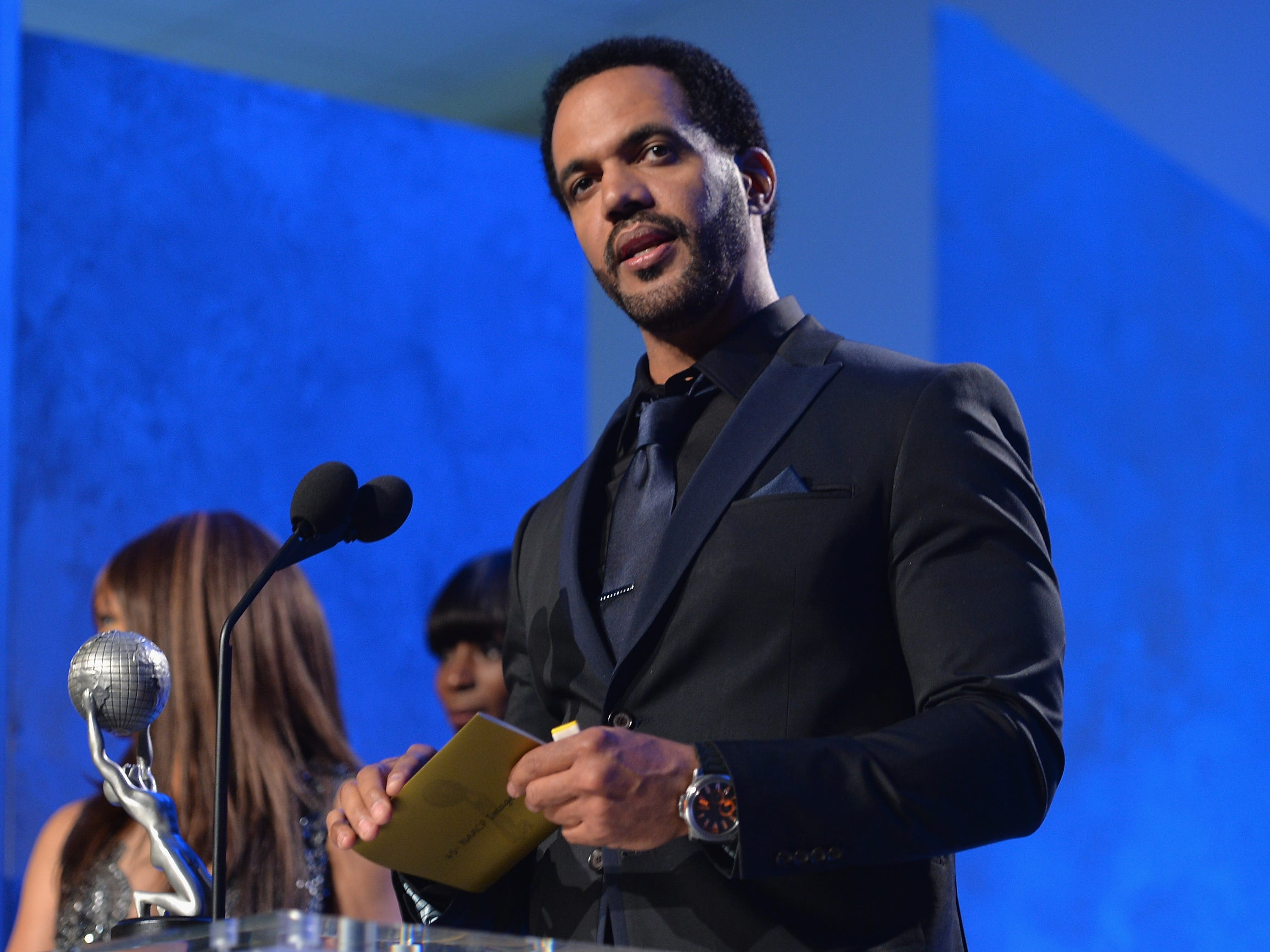 Kristoff St. John attends the 45th NAACP Awards Non-Televised Awards Ceremony, Feb. 21, 2014 in Pasadena, Calif.