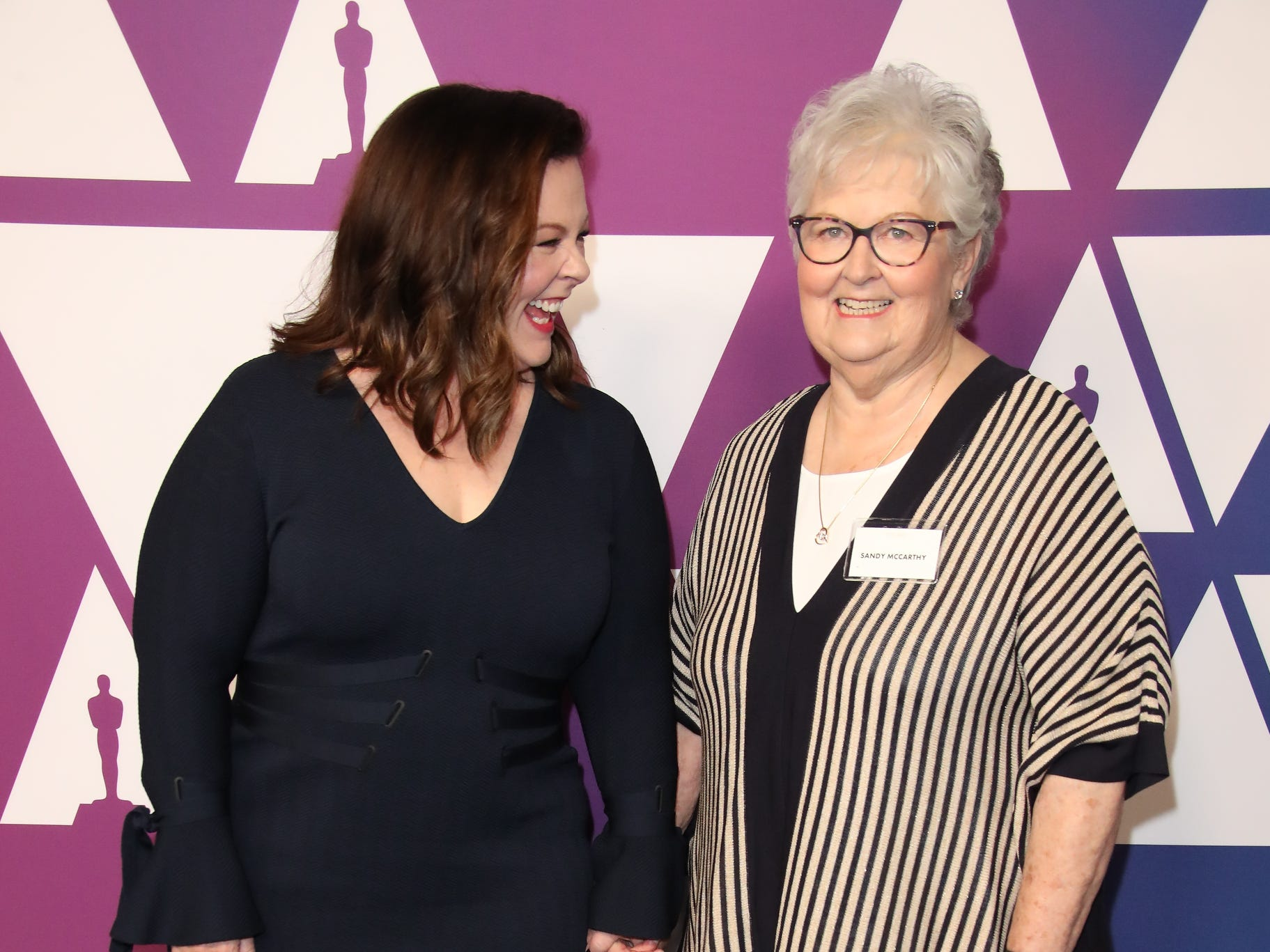 Melissa McCarthy  and her mother Sandra McCarthy