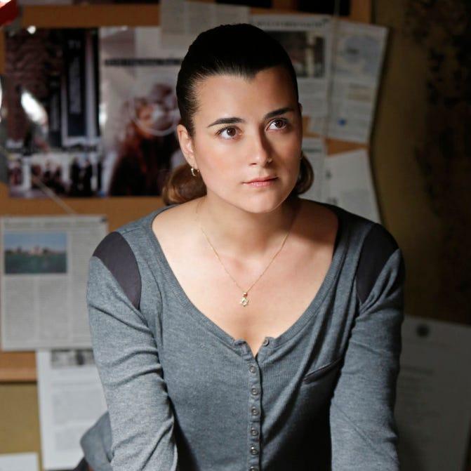 "Actress Cote de Pablo in an episode of ""NCIS."""