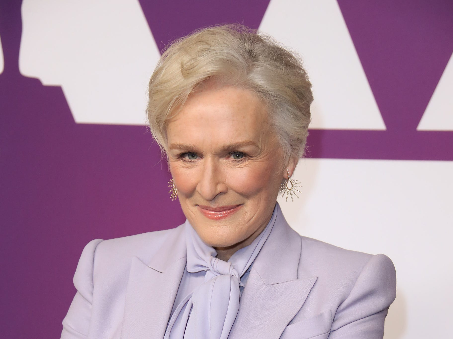 Glenn Close arrives at the 91st Oscar nominees luncheo,Feb. 4, 2019,  at the Beverly Hilton Hotel.