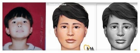 "Improvements in DNA analysis led to increasingly accurate renderings of what Robert ""Bobby"" Adam Whitt, 10, might have looked like before his skeletal remains were found in 1998 on the side of Interstate 40-85 in Orange County. An actual photo of Bobby is at left."