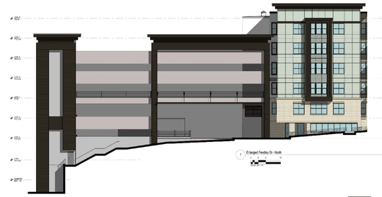 Image from the original 2015 plans for 114 Earle submitted to the Clemson Planning Commission, showing the uneven grading on the site.