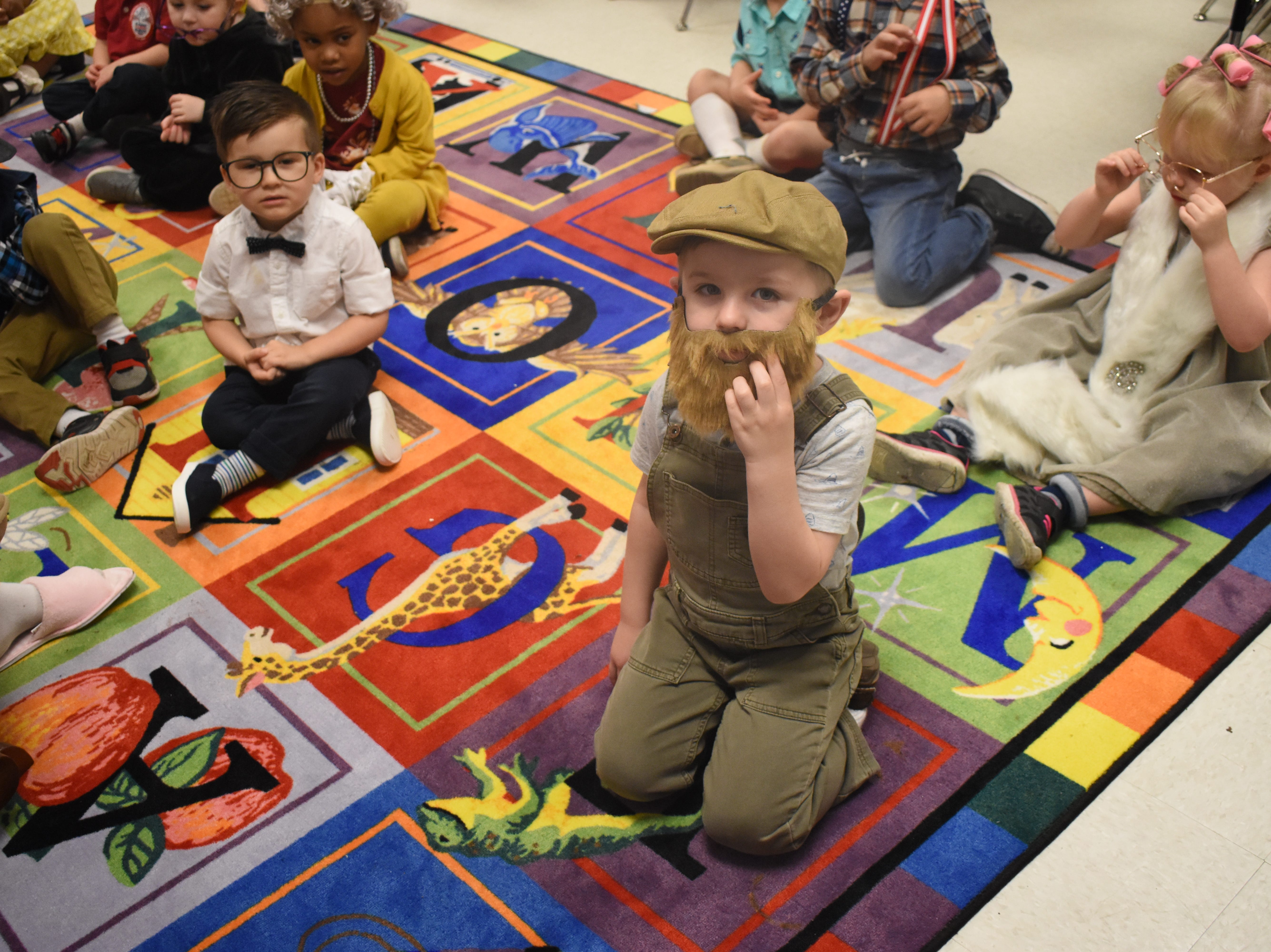On Tuesday, Feb. 5, 2019, St. Frances Cabrini School pre-Kindergarten and Kindergarten students dressed up as 100-year-olds in celebration of 100 days of school.
