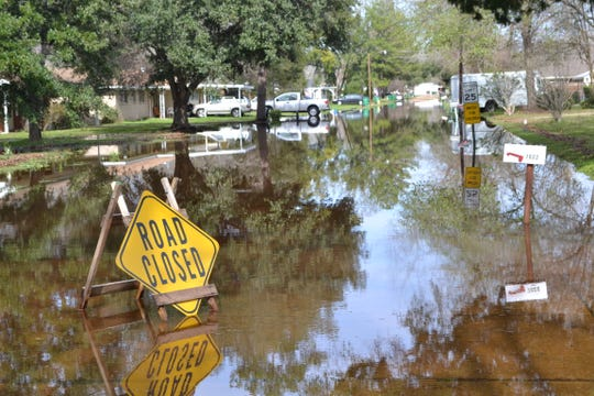 Isabella Drive in Rapides Parish is closed due to high water after a 2012 storm.