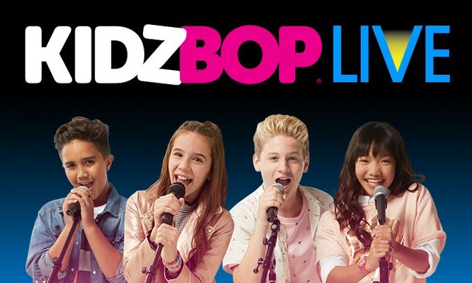 The Kidz Bop Kidz include Isaiah, Olivia, Cooper and Julianna.