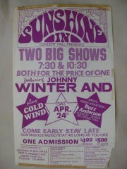Johnny Winter show poster